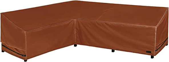 """NettyPro Outdoor Sectional Couch Covers, 83"""" x 104"""" Waterproof 600D Heavy Duty L-Shaped Lawn Patio Furniture Lounge Set So..."""