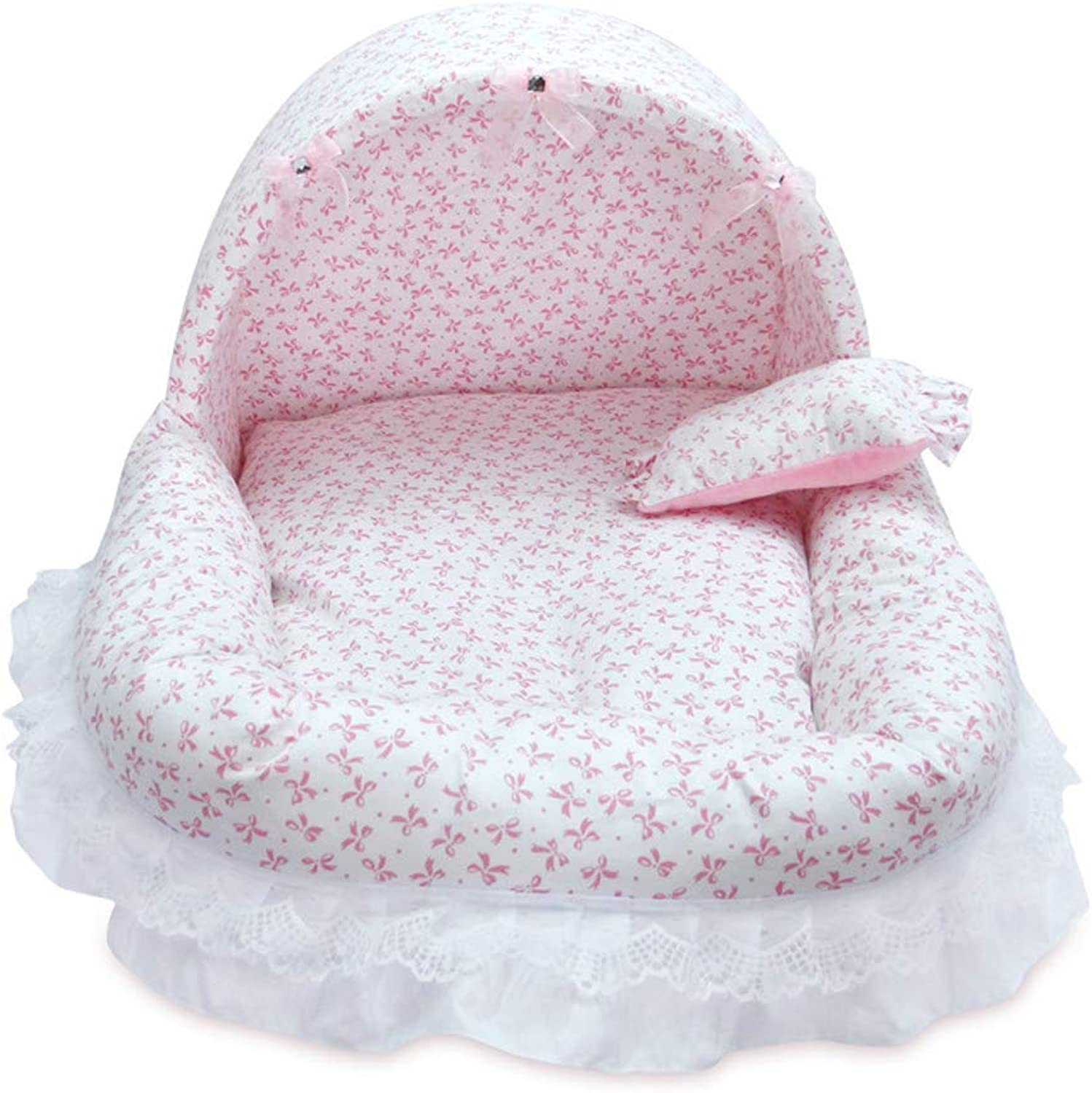 Dog Bed, pet Sofa Bed lace, Comfort Bed, Warm and Windproof pet nest,4,38  34  30cm