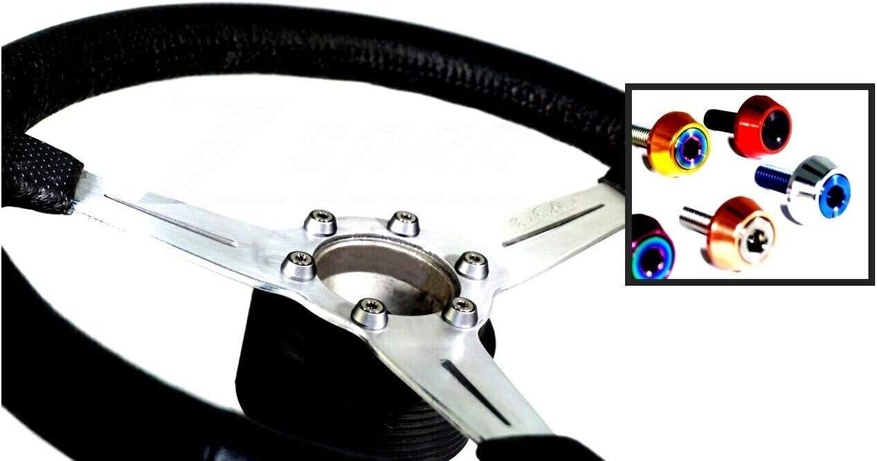 Steering 2021 model Wheel Fastener Kit SS Ti Bolt M5x16mm SHSC Options w Fashion