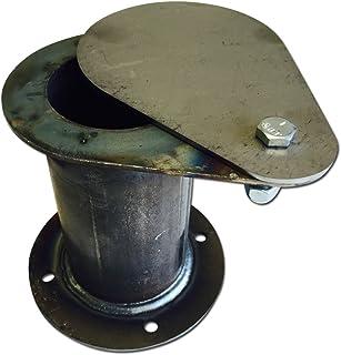 "Bbq Smoker Supply UDS Ugly Drum Lid Exhaust 2"" Teardrop Vent Damper Builder Part"