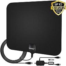 TV Antenna - HDTV Antenna Support 4K 1080P, New Version 80-130 Miles Range Digital Antenna for HDTV, VHF UHF Freeview Chan...