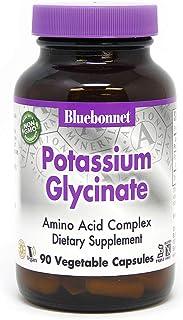 BlueBonnet Albion Potassium Glycinate Vegetarian Capsules, 99 mg, 90 Count