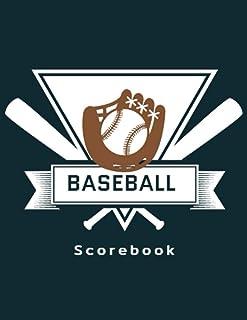 Baseball Scorebook: 120 Baseball and Softball Scoring Sheets, Ideal for Coaches and Teams, Baseball Record Book