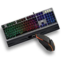 Ant Esports KM540 Gaming Backlit Keyboard and Mouse Combo, LED Wired Gaming Keyboard,