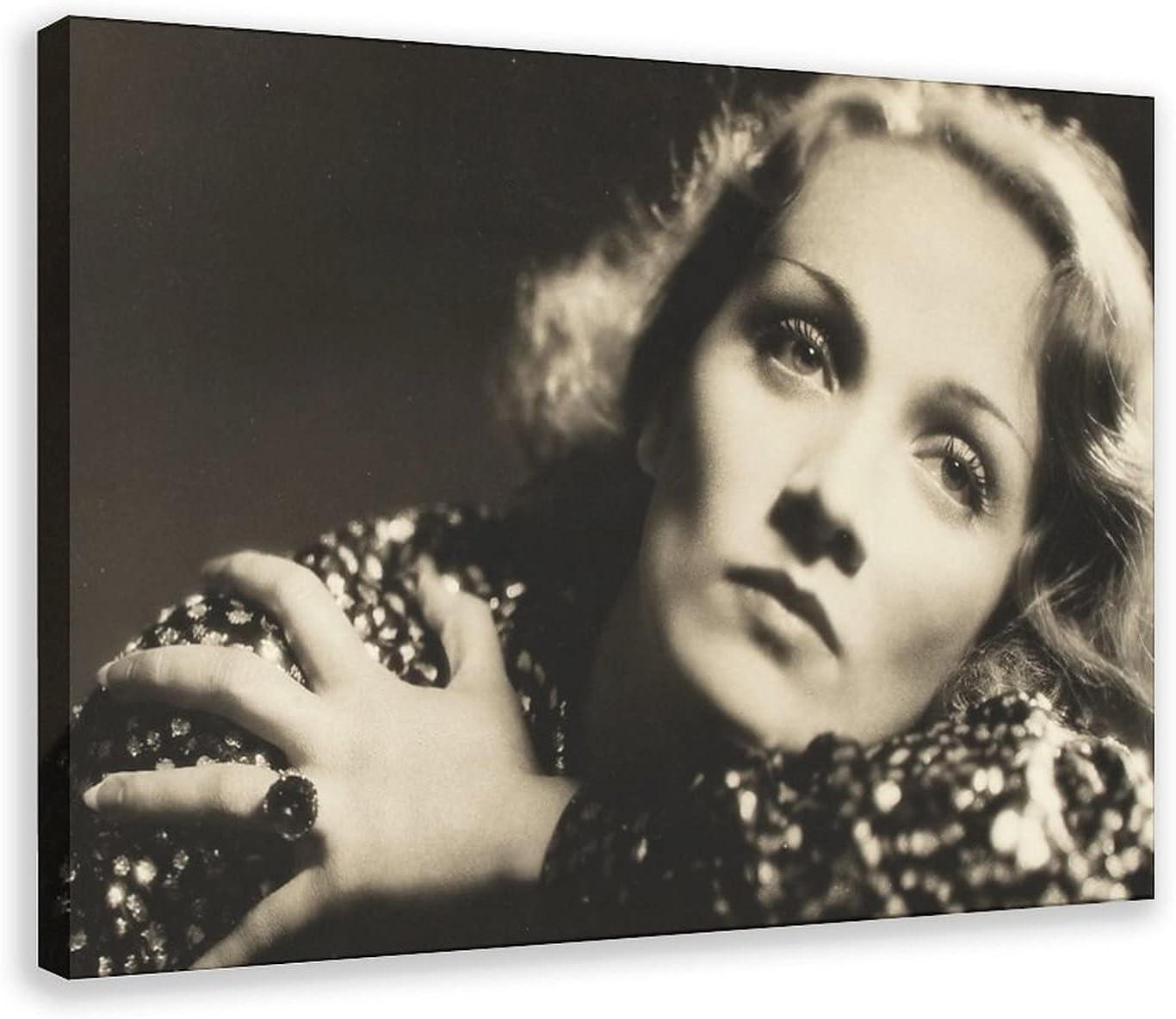 Póster de lona de Actor Marlene Dietrich 27 para decoración de dormitorio, deportes, paisaje, oficina, habitación, marco de regalo, 60 x 90 cm