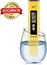Digital PH Meter, PH Meter 0.01 PH High Accuracy Water Quality Tester with 0-14 PH Measurement Range for Household Drinking, Pool and Aquarium Water PH Tester Design with ATC (yellow)