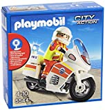 PLAYMOBIL Guardacostas - City Action Moto de Emergencias con Luz Vehículos de Juguete,...