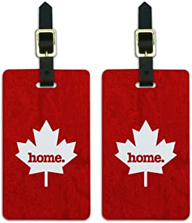 Graphics & More Canada Maple Leaf Home Country Luggage Suitcase Id Tags-Textured Red, White