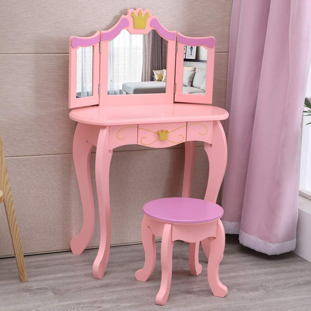 RTWAY Kids excellence Vanity Table and Makeup Set Phoenix Mall Wooden Chair Tabl