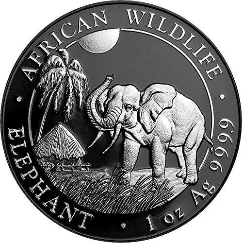 Power Coin Elephant Elefant Ruthenium Enigma 1 Oz Silber Münze 100 Shillings Somalia 2017