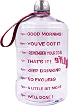 QuiFit 1 Gallon Water Bottle with Motivational Time Marker 128/73/43 oz Large Capacity BPA Free Reusable Sports Water Jug with Handle to Drink More Water