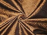 The Yard BRO165[3] Seidenbrokatstoff, Kupfer/Bronze und