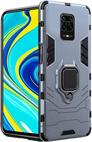 TheGiftKart Tough Armor Bumper Back Case Cover for Redmi Note 9 Pro | Ring Holder & Kickstand in-Built | Excellent 36...