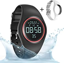 synwee Sports Fitness Tracker Watch,IP68 Waterproof, Non-Bluetooth, with Pedometer/Vibration Alarm Clock/Timer,for Kid Children Teen Boys Girls