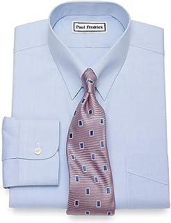 Men's Non-Iron Cotton Pinpoint Snap Tab Collar Dress Shirt