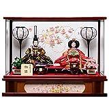 【雛人形】【雛ケース】小三五親王下台さくら刺繍アクリルケース:伏見屋監修【ひな人形】【ひなケース】