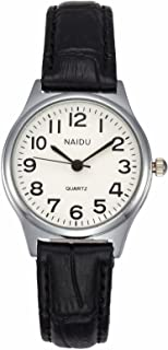MANIFO Women's Classical Arabic Numerals Analog Quartz Wrist Watch, 3 ATM Water Resistant