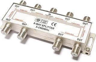 BeMatik - Derivador de 8 vías para TV/SAT de 10 dB con conexión F-hembra