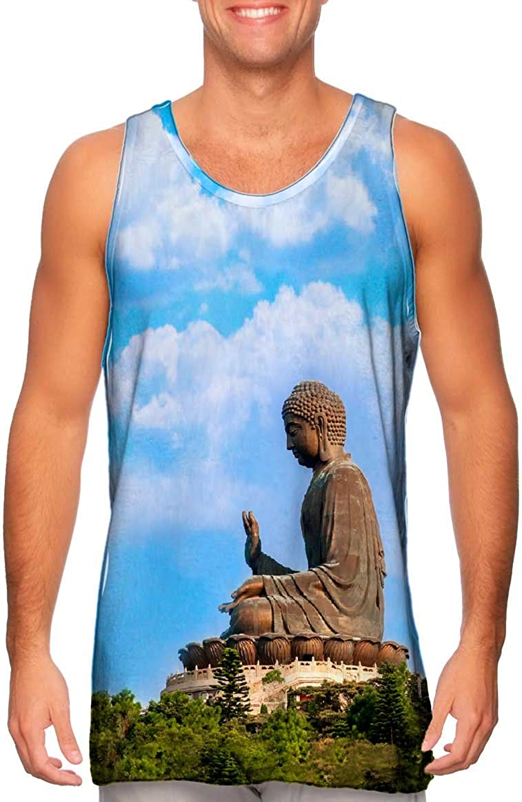 Yizzam- Tian Louisville-Jefferson County Mall Tan Buddha Shrine Regular discount -Tshirt- Tank Top Mens