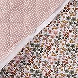SCHÖNER LEBEN. Steppstoff Baumwolle beidseitig Blumen