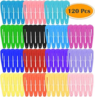 Anezus 120 Pcs Hair Barrettes Snap Hair Clips for Girls Women