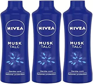 Nivea MUSK TALC Skin Powder Gantle Care Reliable Protection 400g x 3 (3 x 400 g)