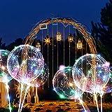 ZMYGOLON 4 PCS Wiederverwendbar Luftballons, 45,7 cm/ 3 m (18 Zoll/9,84 Fuß), LED-Ballons für Geburtstage, Hochzeiten, Feste, Dekoration, Mehrfarbig