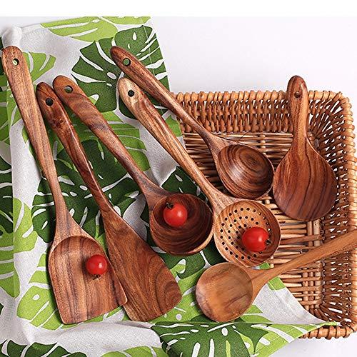 7 tipos espátulas Turner madera sin laca ni cera