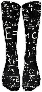 ulxjll, Calcetines Largos Matemáticas Negras Fórmula Arte Tubo Tubo De Compresión Calcetines Largos Niñas Niños Rodilla Viaje Transpirable Divertido Medias Personalizadas 50Cm