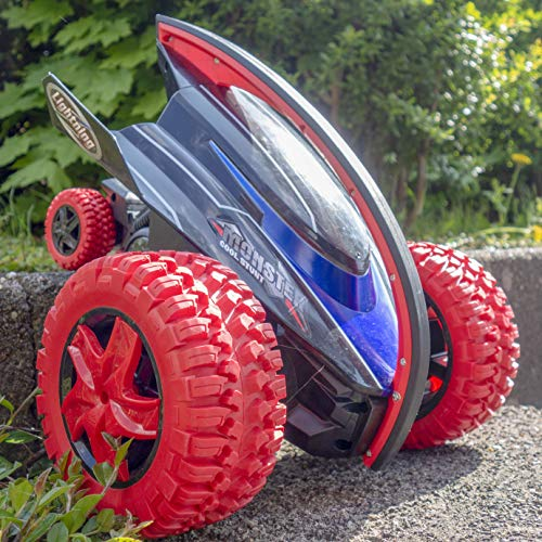 RAYLINE RC ferngesteuerte Auto XXXL Stunt Twister Fahrzeug LED leuchtende Car mit AKKU