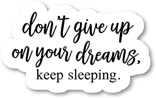 Do Not Give Up On Your Dreams Sticker Funny Stickers - Laptop Stickers - 2.5