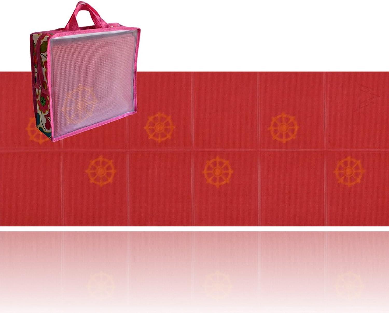 Khataland YoFoMat Kids, Ultra Thick Best Foldable Yoga Mat with Travel Bag, 60Inch