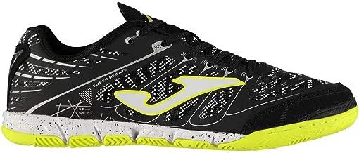 Joma Super Regata Indoor Football Shoes Mens Black/Green Soccer Futsal Trainers