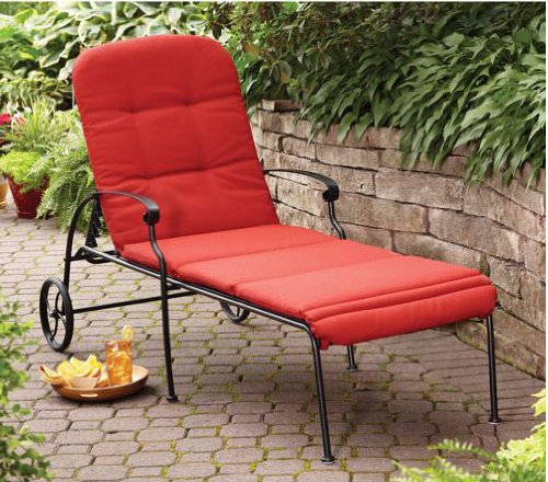 Home and Garden Red Chaise Lounge with Wheels. The Chaise Lounge Chair Can Be Placed At Home Indoor or Outdoor Area. The Patio Chair Is Equipped with Chaise Lounge Cushion. This Amazing Chase Lounge Can Be a Set of Living Room Chairs, Student Lounge.