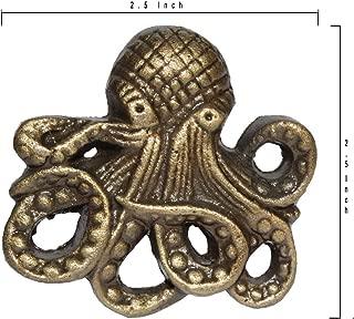 Octopus Cast Iron Door pulls knobs Set of 2
