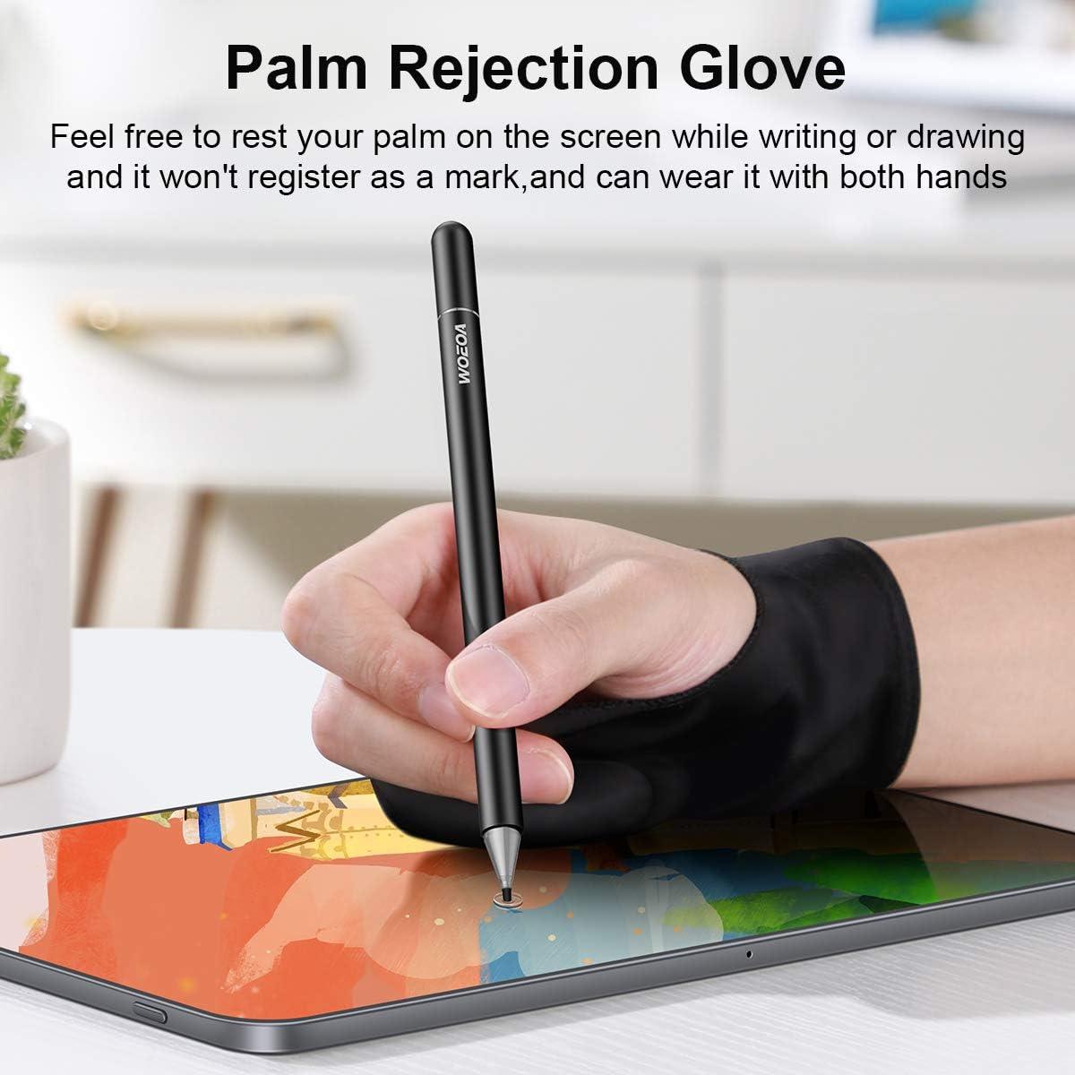 L/ápiz Stylus Capacitivo Universal,WOEOA Stylus Pen con Dibujo Guante,Bol/ígrafos Digitales para Pantalla T/áctil Ipads,iPad Mini//iPad Air//iPad Pro,Samsung,Tel/éfonos m/óviles,Smartphones y Tabletas