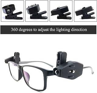 eb79d1c593 Aesy Linterna LED, Gafas de Luz, Rotación de 360 Grados Ajustable Luz de  Lectura
