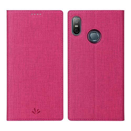 Eastcoo HTC U12 Life Hülle Folio Flip Schutzhülle Tasche Handyhülle Cover PU Leder Dünn Premium klappbares Book TPU Bumper Hülle [Mit Standfunktion][ Magnetverschluss] [Kartenfach] (Red)