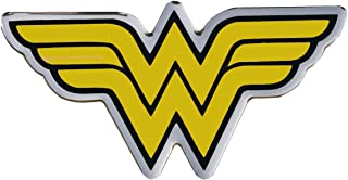 Fan Emblems Wonder Woman Logo Car Decal Domed/Black/Yellow/Chrome Finish, DC Comics Automotive Emblem Sticker Applies Easily to Cars, Trucks, Motorcycles, Laptops, Cellphones, Windows, Almost Anything