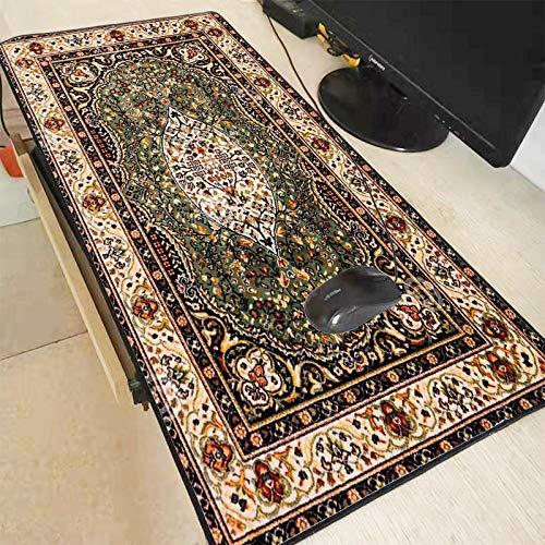 Antislip retro stijl Perzische tapijt lock muismat toetsenbord huishoudelijke grote muismat kantoor tafel decoratie proces