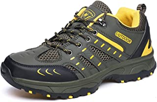 TERIAU Hiking Boots for Mens Mesh Cloth Outdoor Backpacking Shoes,Sneakers