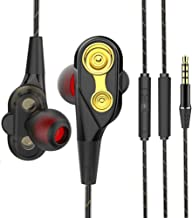 Headphones Earphones in-Ear Earbuds Noise Isolation Headsets Heavy Bass Earphones with Microphone and Volume Control, Noise Isolating Sweatproof Runing Workout 3.5mm