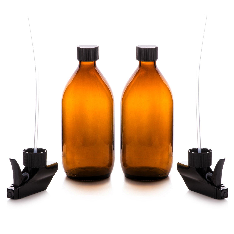 Vaporizador en Botella de Cristal Ámbar Set 500 mL. Reutilizable ...
