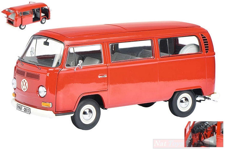 online barato Schuco Schuco Schuco SH0196 VW T 2 A Edition 50 Anniv.VW T2 1967-2017  Bus rojo 1 18 Die Cast Compatible con  wholesape barato