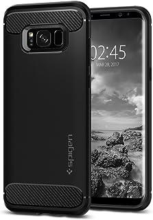 Spigen Funda Samsung Galaxy S8, [Rugged Armor] Absorción de Choque Resistente y diseño de Fibra de Carbono para Galaxy S8 (2017) - Negro