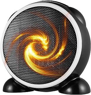 LTLJX Termoventiladores Cerámico Eléctrico Portátil 500W PTC Ventilador de Calefactor Personal Protección de Sobrecalentamiento y Volcado para Hogar Oficina,Negro