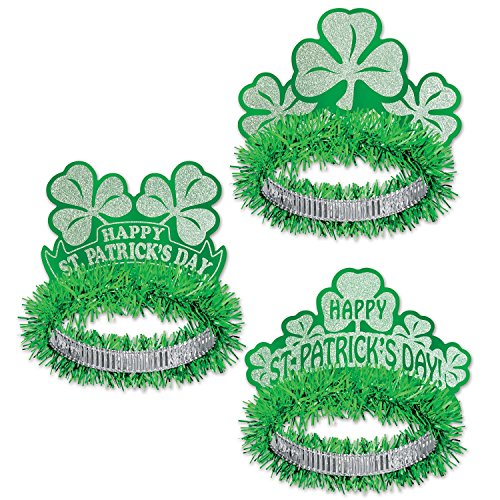 McLaughlin's Irish Shop Irland Deko Glitzerkrönchen Happy Saint Patrick's Day