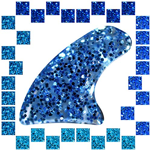 zetpo 100 pcs Cat Claw Covers | Cat Nail Caps | with Adhesives and Applicators (XS, 5X Blue Glitter Shades)