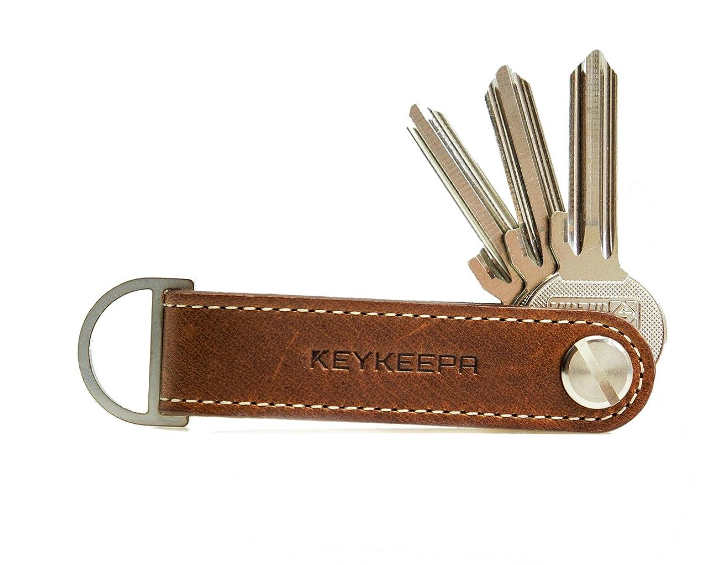 余裕があるウィザード調査[KEYKEEPA] Loop キーケース キーオーガナイザー キーホルダー 1~7個のカギまで対応 ドイツ製 ハンドメイド 本革 レザー 仕様 ループタイプ