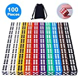 AUSTOR 100 Pieces 6 Sided Game Dice Set 12mm Square Corner Dice with a Free Pouch